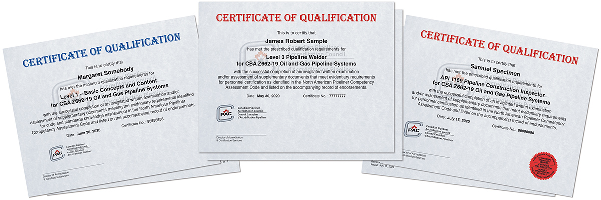 Oil and Gas Qualification Certificates